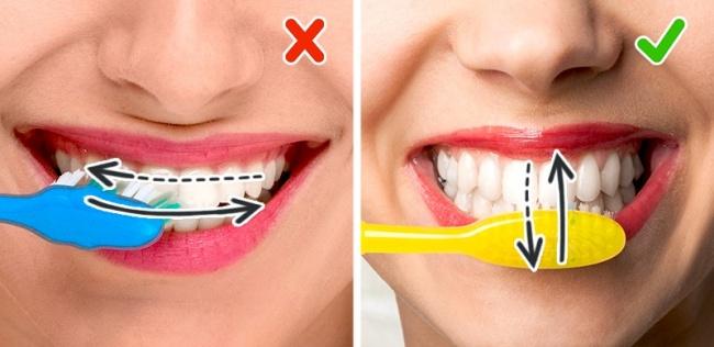 Как правильно чистить зубы фото